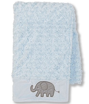 Image of Starting Out Baby Boys Swirl Elephant Blanket