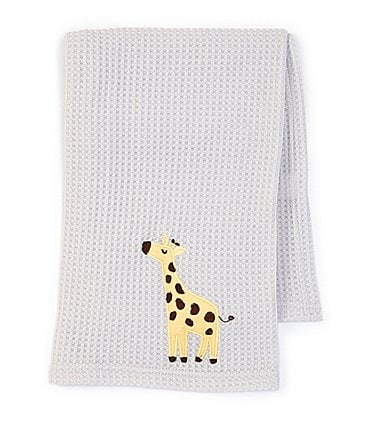 Image of Starting Out Baby Giraffe Waffle-Knit Blanket