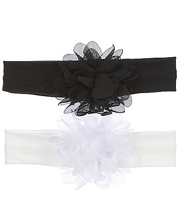 Image of Starting Out Baby Girls 2-Pack Chiffon Flower Headwraps