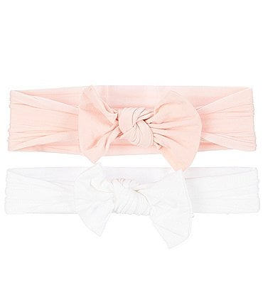 Image of Starting Out Baby Girls 2-Pack Knot Bows Headwrap