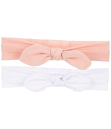 Image of Starting Out Baby Girls 2-Pack Knotted Headband