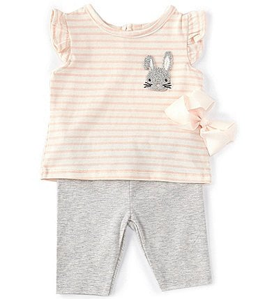 Image of Starting Out Baby Girls 3-24 Months Bunny Top & Legging Set