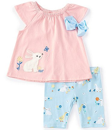 Image of Starting Out Baby Girls 3-24 Months Bunny Top & Printed Legging Set