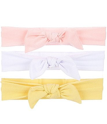 Image of Starting Out Baby Girls 3-Pack Knotted Headband