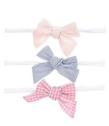Image of Starting Out Baby Girls 3-Pack Print Woven Bows