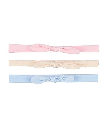 Image of Starting Out Baby Girls 3-Pack Solid Headwraps