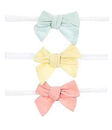 Image of Starting Out Baby Girls 3-Pack Woven Bows
