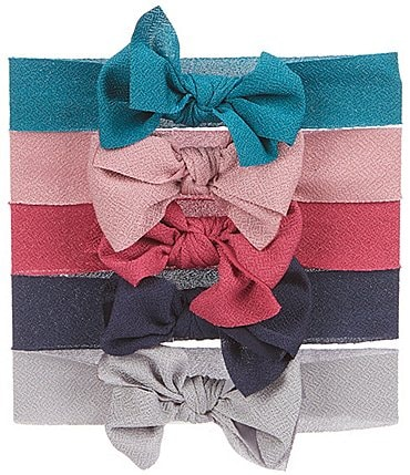 Image of Starting Out Baby Girls 5-Pack Bow Headwrap