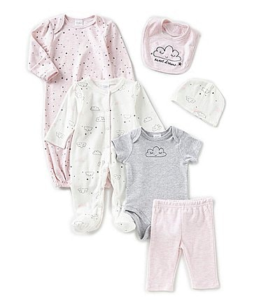 Image of Starting Out Baby Girls Sweet Dreams 6-Pack Layette Set