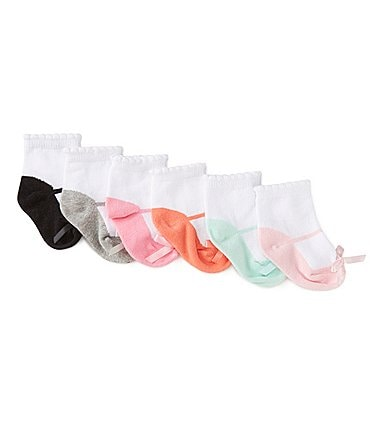 Image of Starting Out Baby Girls 6-Pack Maryjane Ankle Socks
