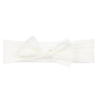 Image of Starting Out Baby Girls Cable-Knot Bow Headwrap