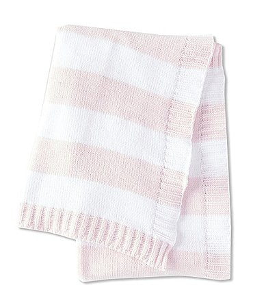 Image of Starting Out Baby Girls Chenille Stripe Blanket