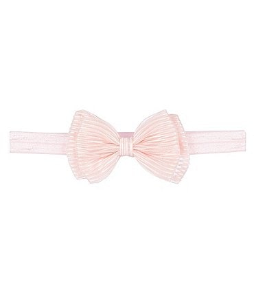 Image of Starting Out Baby Girls Double-Bow Ribbed Headwrap