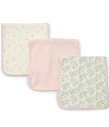 Image of Starting Out Baby Girls Floral 3-Pack Burp Cloths