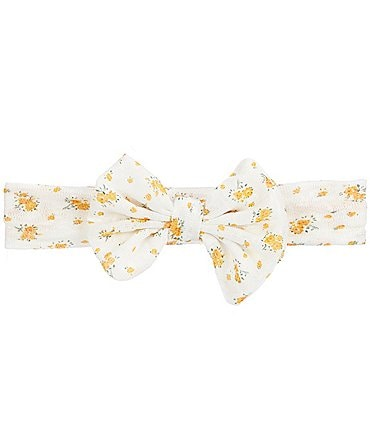 Image of Starting Out Baby Girls Floral Bow Headwrap