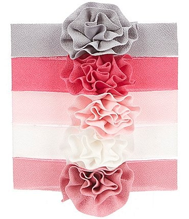 Image of Starting Out Baby Girls Flower 5-Pack Headwraps