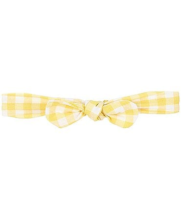 Image of Starting Out Baby Girls Gingham Knotted Headband
