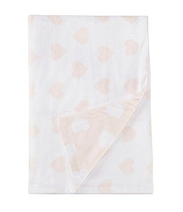 Image of Starting Out Baby Girls Heart Print Blanket