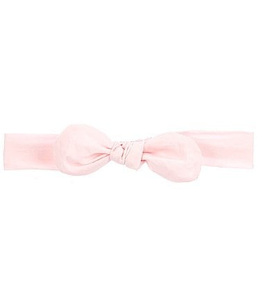 Image of Starting Out Baby Girls Knotted Woven Bow Headwrap