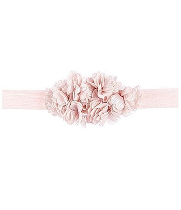 Image of Starting Out Baby Girls Lace Flower Headwrap