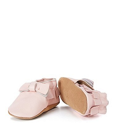 Image of Robeez Baby Girls' Maggie Moccasin Soft Sole Crib Shoes