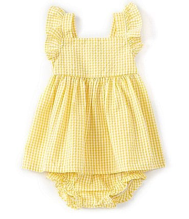 Image of Starting Out Baby Girls Newborn-24 Months Gingham A-Line Dress