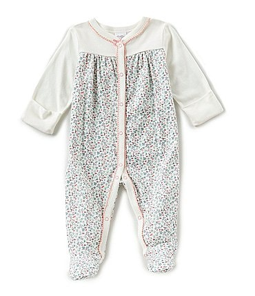 Image of Starting Out Baby Girls Newborn-3 Months Floral Coverall