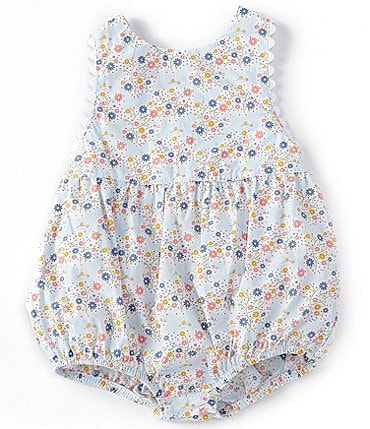 Image of Starting Out Baby Girls Newborn-9 Months Floral Cross-Back Romper