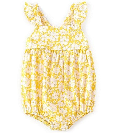 Image of Starting Out Baby Girls Newborn-9 Months Floral Romper