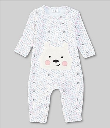 Image of Starting Out Baby Girls Preemie-6 Months Long-Sleeve Bear Coverall