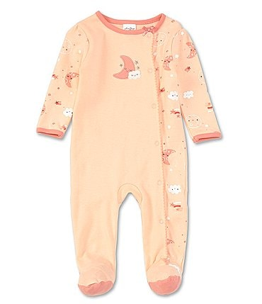 Image of Starting Out Baby Girls Preemie-6 Months Long-Sleeve Moon Coverall