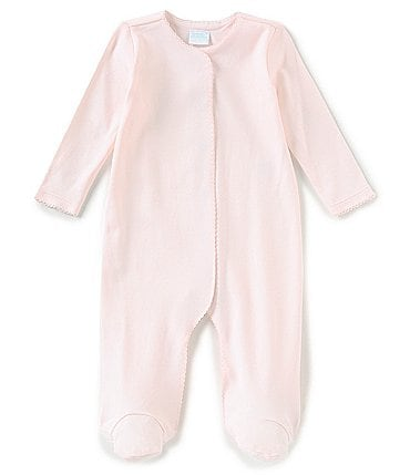 Image of Edgehill Collection Supima Cotton Baby Girls Preemie-9 Months Supima Footed Coverall