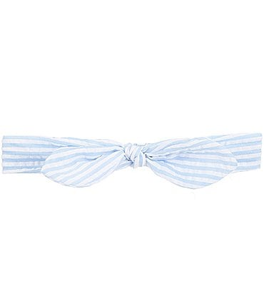 Image of Starting Out Baby Girls Stripe Seersucker Headwrap