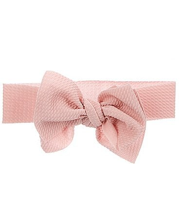 Image of Starting Out Baby Girls Waffle-Knit Large Bow