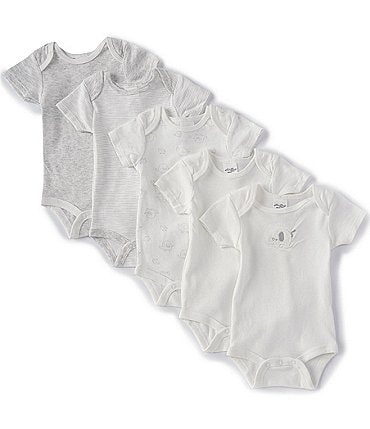 Image of Starting Out Baby Newborn-6 Months Elephant 5-Pack Bodysuits