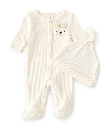 Image of Starting Out Baby Preemie-6 Months Long-Sleeve Bear Pocket Footed Coverall