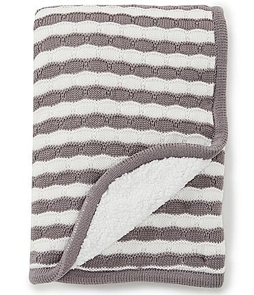 Image of Starting Out Baby Scallop Stripe Blanket