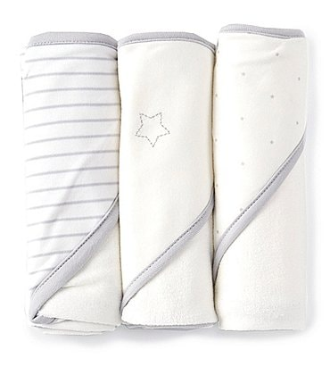 Image of Starting Out Baby Star 3-Pack Hooded Towels