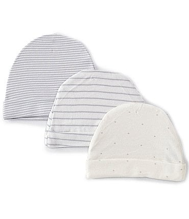 Image of Starting Out Baby Star/Stripe 3-Pack Beanies