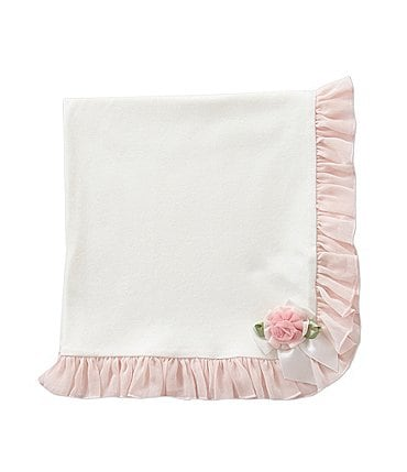 Image of Starting Out Treasures Chiffon Rosette Blanket