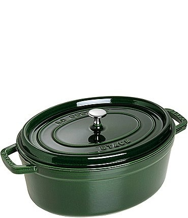 Image of Staub cast Iron 7 QT Oval Cocotte