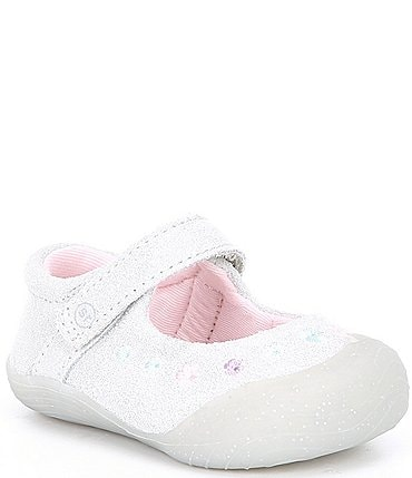 Image of Stride Rite Girls' Mira SR Mary Jane Glitter Crib Shoes (Infant)
