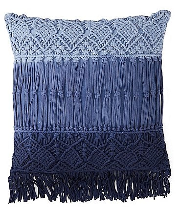 Image of Studio D Ombre Macrame & Fringe Square Pillow