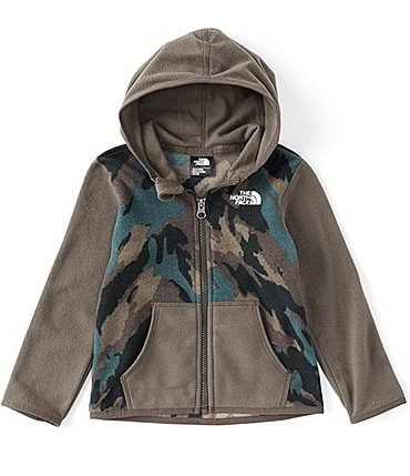 Image of The North Face Baby Boys Newborn-24 Months Colorblock/Camo Glacier Fleece Hoodie