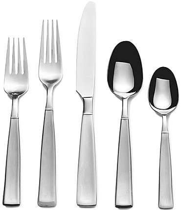 Image of Towle Silversmiths 53-Piece Satin Balance Stainless Steel Flatware Set