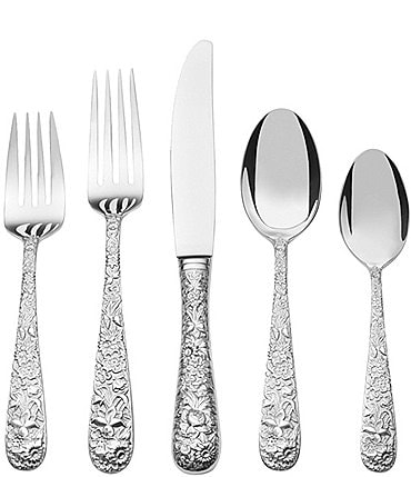 Image of Towle Silversmiths Contessina Floral 20-Piece Stainless Steel Flatware Set