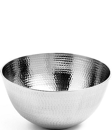 Image of Towle Silversmiths Hammered Large Serving Bowl