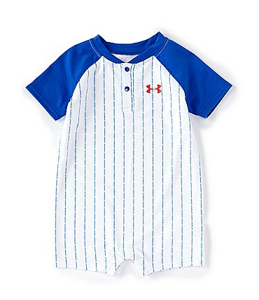 Image of Under Armour Baby Boy Newborn-24 Months Short Sleeve Baseball Shortall