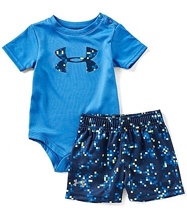 Image of Under Armour Baby Boys Newborn-24 Months Digi Camouflage Bodysuit & Shorts Set