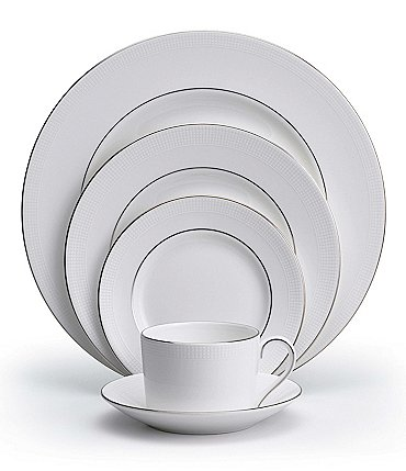 Image of Vera Wang by Wedgwood Blanc Sur Blanc 5-Piece Place Setting